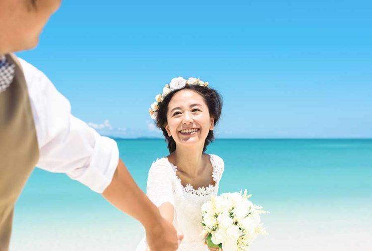 オンライン婚活パーティー_海のウェディング